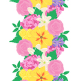 Seamless hand drawn flower pattern vector image