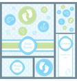 baby card set circles boy vector image