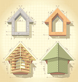 Drawing of Building a House vector image