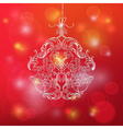 Christmas Ball made from Vintage Ornate Elements vector image