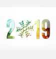 2019 new year sign vector image