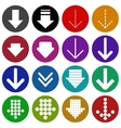 Arrow sign icon set- vector image vector image