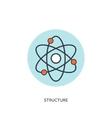 Atom molecule icon vector image