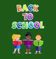 back school education poster vector image vector image