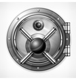 Bank vault on white vector image