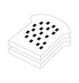bread food icon design sign vector image vector image