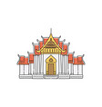 buddhist temple or palace asian pagoda vector image vector image