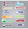 business stickers with text eps10 vector image vector image