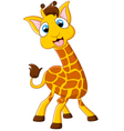 Cartoon giraffe posing vector image