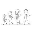 cartoon walking family man or father woman vector image