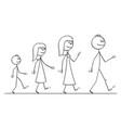 cartoon walking family man or father woman vector image vector image