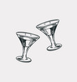 cheers toast vintage american cognac or liquor vector image