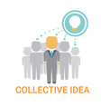 collective idea businesspeople team cooperation vector image vector image
