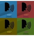Color set talking Flat modern web button with long vector image vector image
