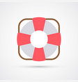 colored lifebuoy trendy symbol vector image