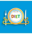 Concept for dieting vector image
