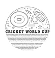 Cricket sport game graphic design concept vector image vector image