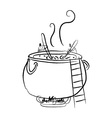 Delicious Soup Cook vector image vector image