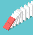 domino effect starting vector image