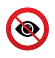 Dont look Eye sign icon Visibility