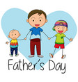 doodle father with children vector image vector image