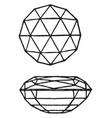 double brilliant cut gem vintage engraving vector image vector image