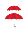 Double protection concept double layer of umbrella vector image