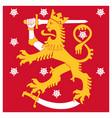 finland naval jack flag heraldic lion with sword vector image