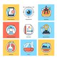 Flat Color Line Design Concepts Icons 22 vector image