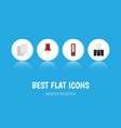 flat icon tool set of dossier pushpin paper clip vector image