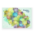 Floral card template corporate identity