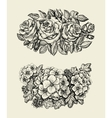 Flowers Hand drawn sketch flower roses geranium vector image vector image