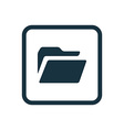 folder icon Rounded squares button vector image vector image
