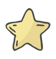 freehand drawn cartoon decorative stars doodle vector image