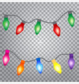 glowing lights for holiday greeting card design vector image vector image
