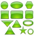 Green Glass Shapes vector image