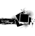 Grunge background with photo frames vector image vector image
