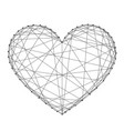 heart symbol of love from futuristic polygonal vector image