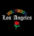 hollywood los angeles print vector image