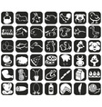 icons animals and products vector image vector image
