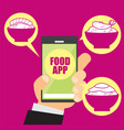 image about food apps vector image vector image