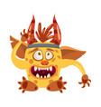 imp troll cute funny fairytale character emotions vector image