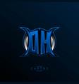 initial dh logo design initial oa logo design vector image vector image