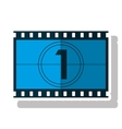 Isolated cinema film strip design vector image vector image