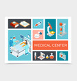 isometric healthcare composition vector image vector image