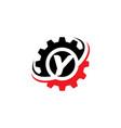 letter y gear logo design template vector image