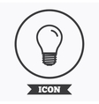 Light bulb icon Lamp E27 screw socket symbol vector image vector image