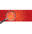 magnifying glass numbers vector image vector image