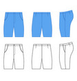 man outlined template of skinny briefs vector image vector image