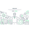 mind map - modern line design style web banner vector image